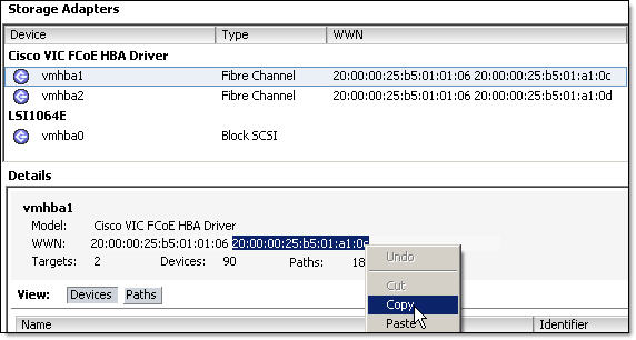 HOW TO: Find HBA WWN number on VMware vSphere ESX server