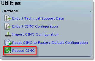 Cisco UCS Error 2001 Service not available - Reboot CIMC