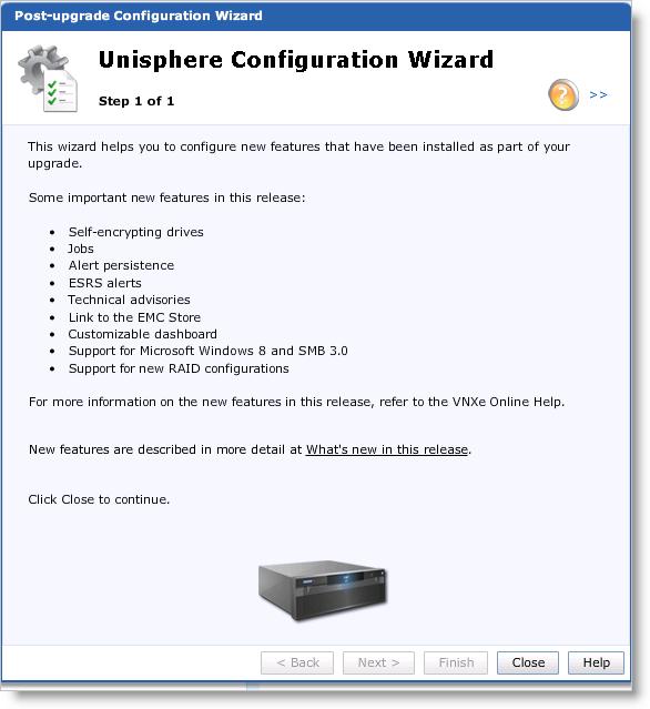 VNXe 2.4 upgrade