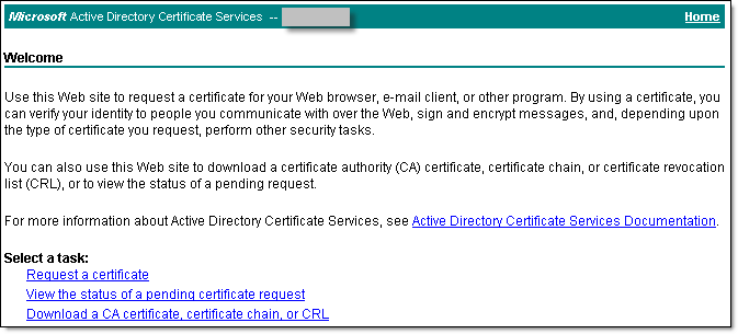 Create certificate request - 3