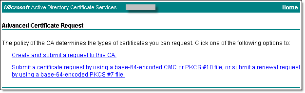 Create certificate request - 4