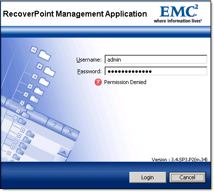Reset or Unlock EMC RecoverPoint admin password - 1
