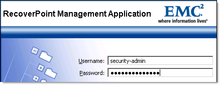 Reset or Unlock EMC RecoverPoint admin password - 2