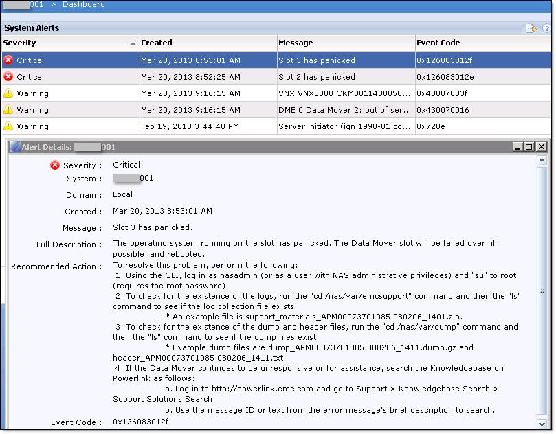 EMC VNX Storage Processor Reboot - 1