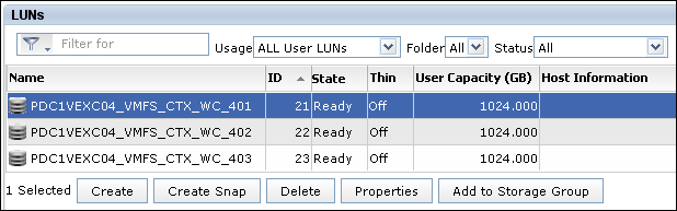 Add a LUN to Storage Group in EMC VNX Unisphere - 1