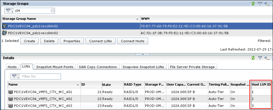 Add a LUN to Storage Group in EMC VNX Unisphere - 3