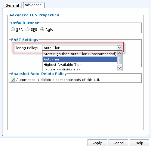 Create Thick LUN in EMC VNX Unisphere - 2