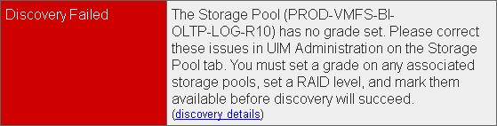 EMC UIM-P Service Adoption Utility - Discovery Failed - 2