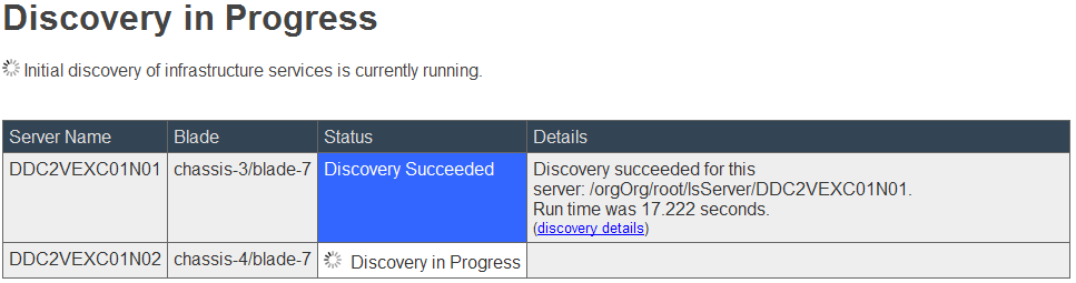 EMC UIM-P Service Adoption Utility - Discovery in Progress