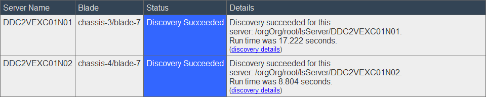 EMC UIM-P Service Adoption Utility - Initial Discovery Complete