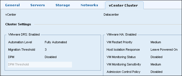 EMC UIM-P Service Adoption Utility - Edit Service Offering - Cluster