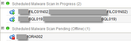 Trend Micro Deep Security - Scheduled Malware Scan in Progress + Pending