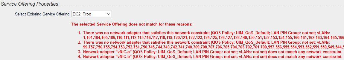 EMC UIM - Cannot adopt a service using existing Service Offering