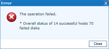 EMC UIM - The operation failed - 2