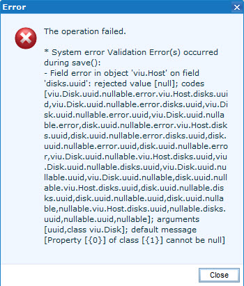 EMC UIM - The operation failed