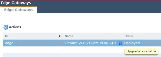 Upgrade vCNS - Upgrade vShield Edge - 1
