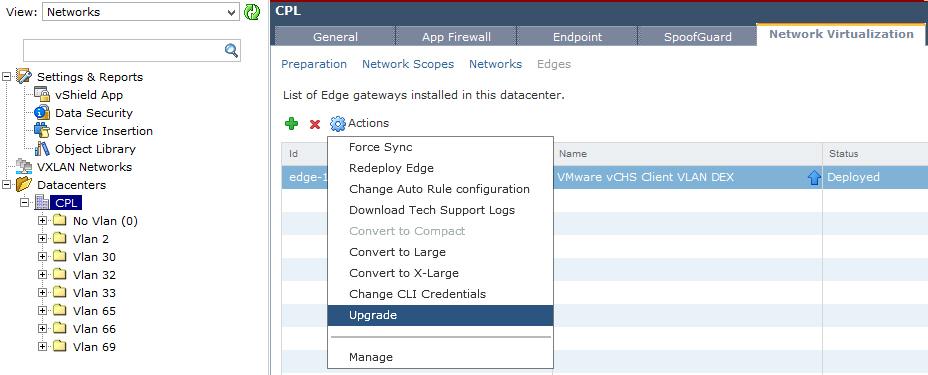 Upgrade vCNS - Upgrade vShield Edge - 2