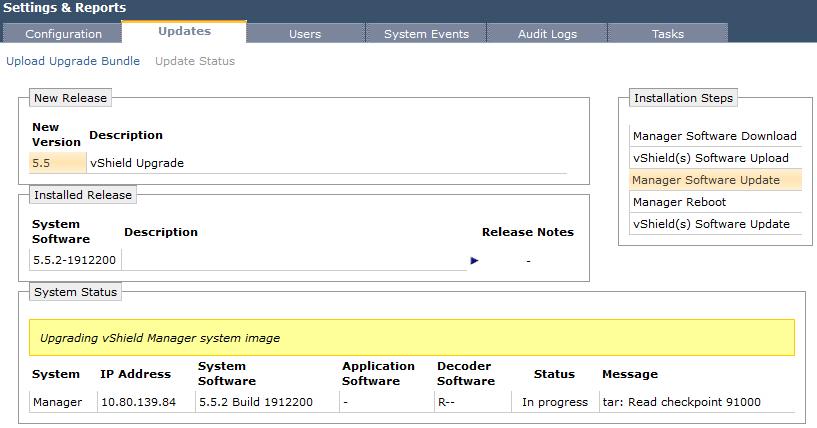 Upgrade vCNS - Upgrade vShield Manager - 4