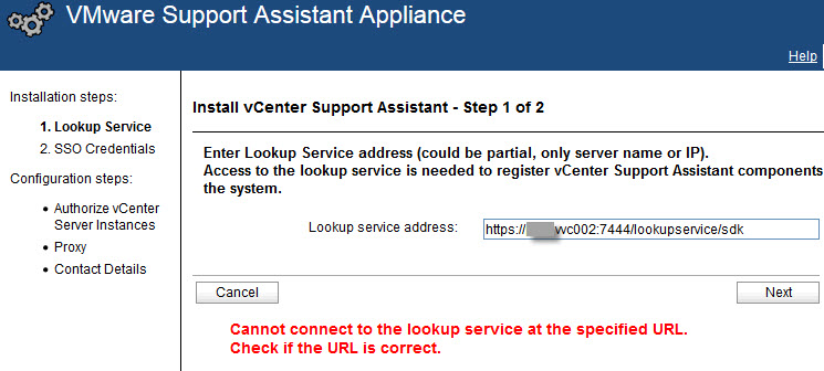 VMware vCenter Support Assistant Appliance - 1