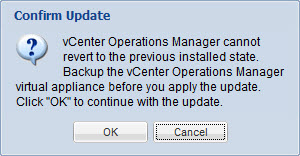 Upgrade vCenter Operations Manager - 2