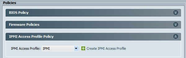 Cisco UCS IPMI Access Profile Policy