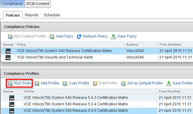 VCE Vision: How to check Vblock System RCM and Security compliance ...