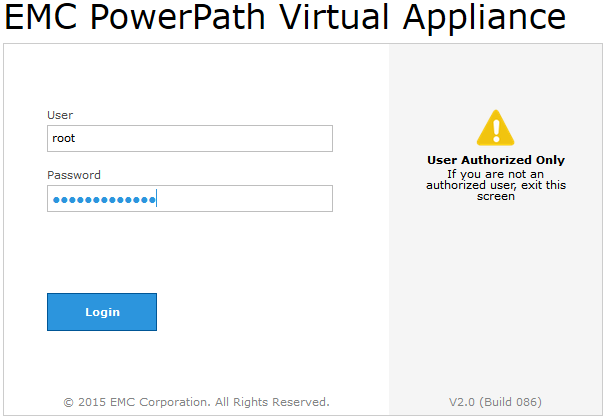 EMC PowerPath Virtual Appliance
