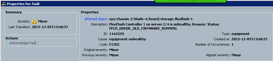 Cisco UCS B200 M4 - FlexFlash FFCH_ERROR_OLD_FIRMWARE_RUNNING error - 1